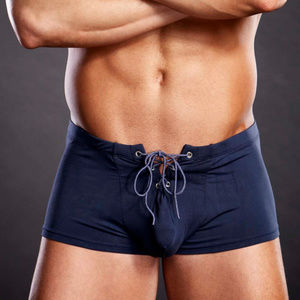 Performance Microfiber Navy Blue Lace-Up Trunk